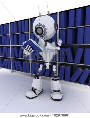 3D Render of a Robot at bokself
