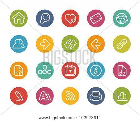Web Navigation Icons // Printemps Series