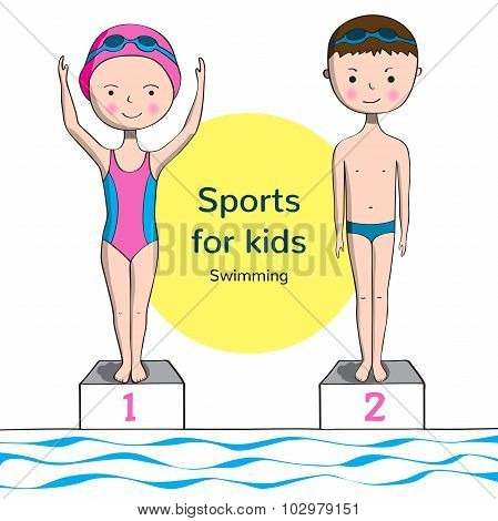 Sports For Kids. Swimming.