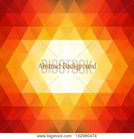 Abstract triangles pattern background. Colorful mosaic. Can be used for cover book, brochure, flyer.