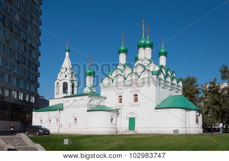 Moscow, Russia - 09.21.2015. Church Simeon at Povarskaya Street. Built in 1676