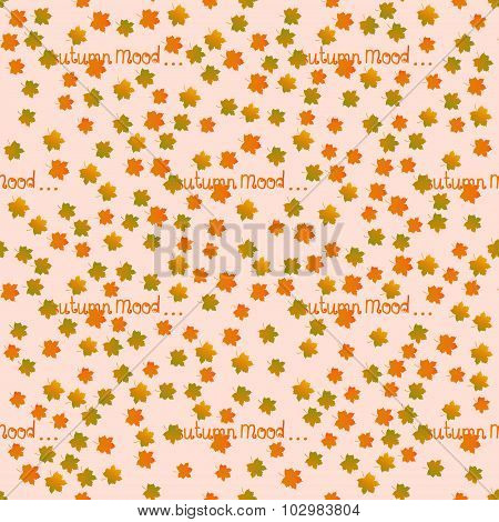 Autumn mood seamless pattern. Fall motif endless background.