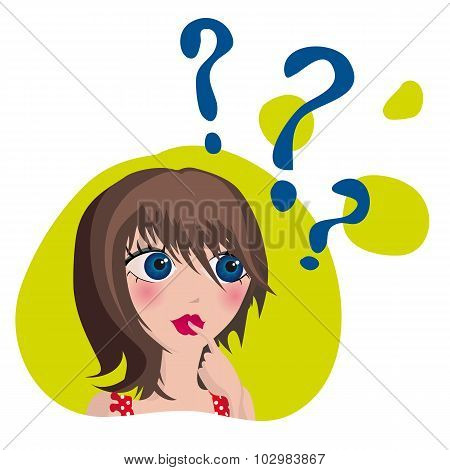 Cartoon Question Woman