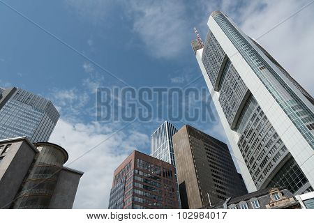 Office Buildings Skyscapers In Frankfurt Germany