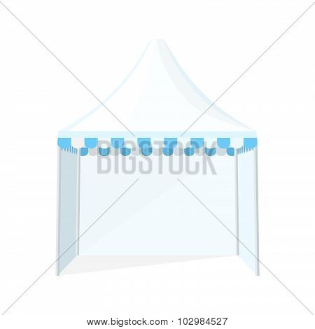 Folding Tent Marquee Illustration.