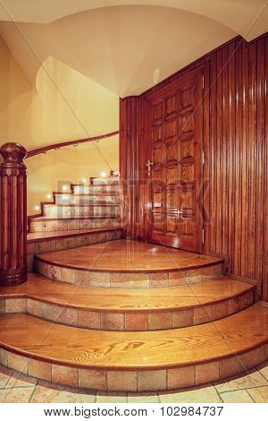 Wooden Old Style Staircase