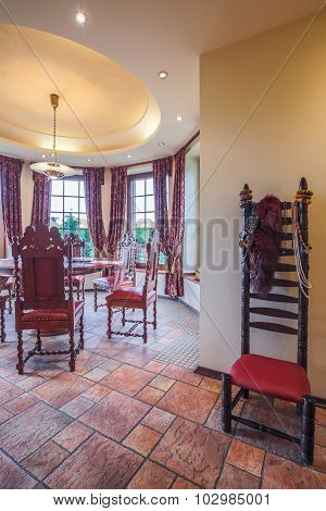 Dining Area In Stylish Interior