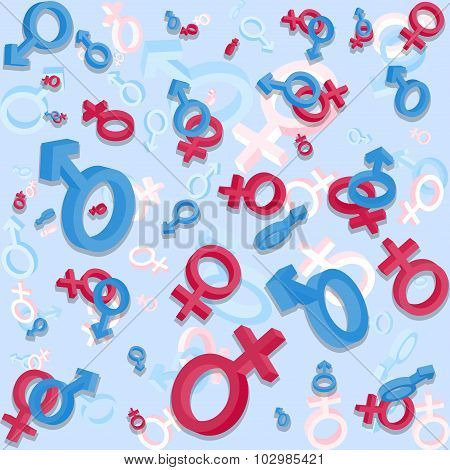 Gender Seamless Pattern.