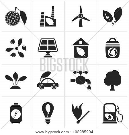 Black Green, Environment and ecology Icons