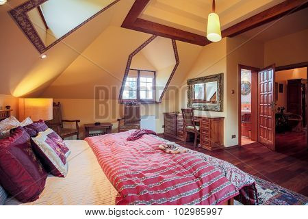 Double Bed In Spacious Bedroom