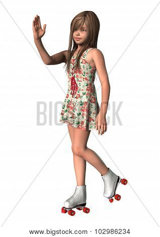 Girl On Inline Skates