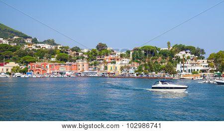 Coastal Landscape, Main Port Of Ischia Island