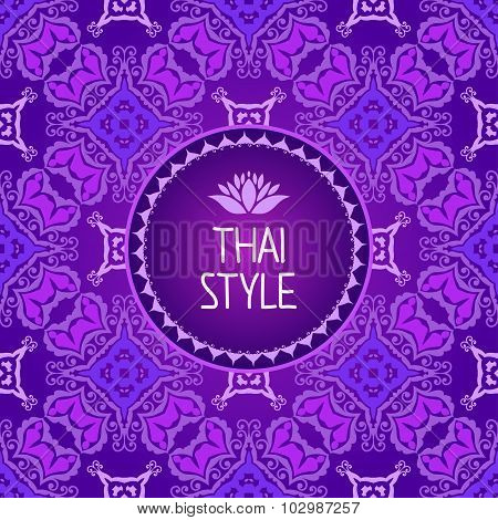 Thai Art Background. Seamless Pattern.