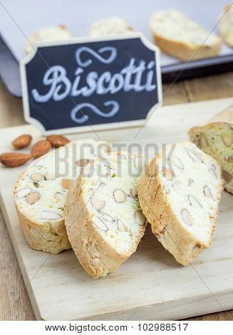 Preparing Traditional Italian Biscotti With Almond