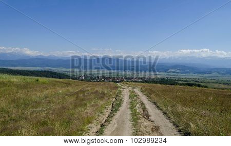 Landscape  of mountain Plana and beautiful village Alino