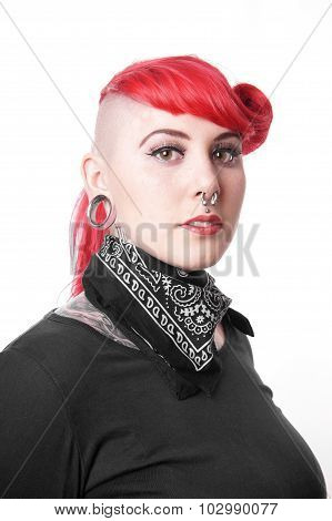 woman with piercings
