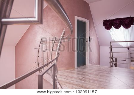 Hallway With A Staircase