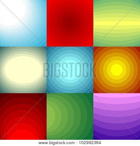 Color Blend Backgrounds Set