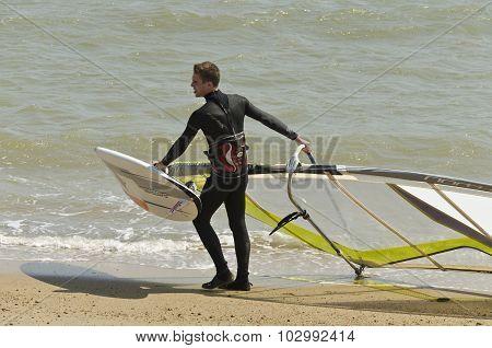 a windsurfer