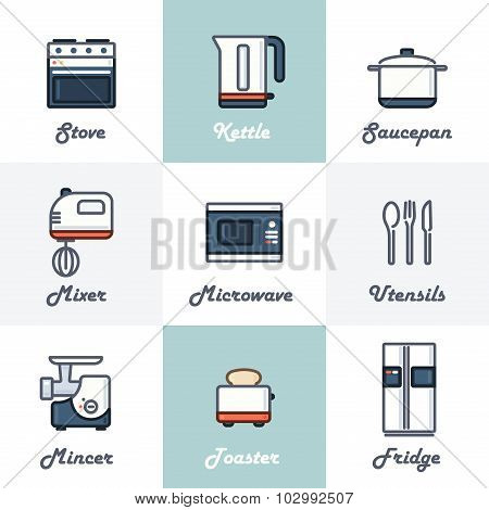 Kitchen Icons Set