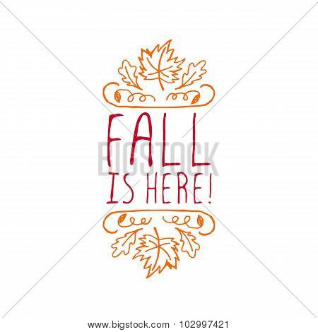 Fall is here - typographic element