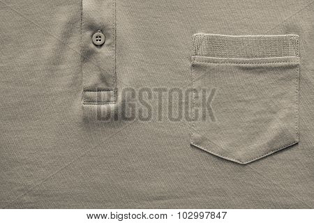 Part Shirt Closeup Of Beige Color