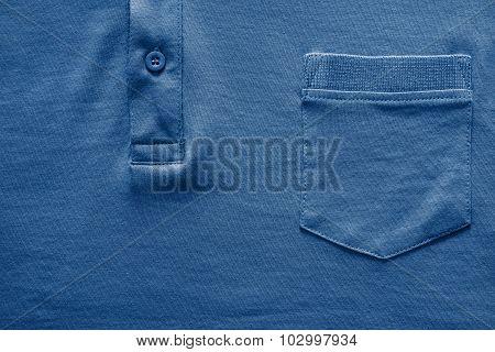 Part Shirt Closeup Of Dark Blue Color