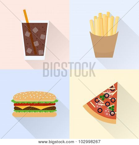 Junk Food Set.