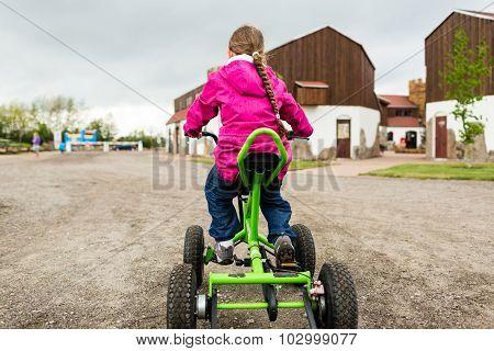 Girl Driving Trike