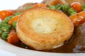 Traditional English Roast With Yorkshire Pudding & Summer Veg poster