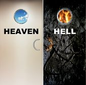 foto of hells angels  - two heavy doors to heaven and hell - JPG
