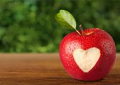 Heart Shape on Apple. poster
