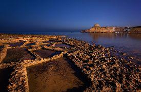 stock photo of gozo  - Night view of landscape in Gozo island - JPG