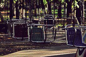 foto of merry-go-round  - Vacant merry - JPG