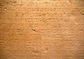 pic of hieroglyphic  - Egyptian hieroglyphs on the wall - JPG