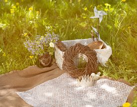 image of nic  - the place is in a meadow prepared for the picnic - JPG