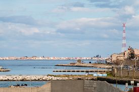 image of messina  - docking and harbor view of Messina Sicily - JPG