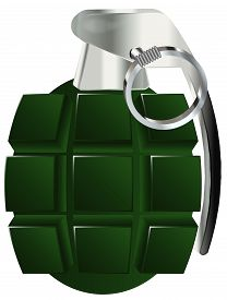 pic of grenades  - hand grenade vector illustration isolated on white background - JPG
