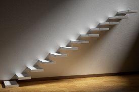 stock photo of plinth  - Business rise forward achievement progress way success and hope creative concept - JPG
