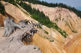 foto of ravines  - Ravine with erosion landscape - JPG