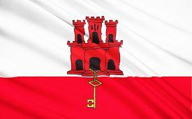 picture of gibraltar  - Flag of Gibraltar  - JPG