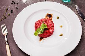 stock photo of tartar  - salmon tartar with beet - JPG