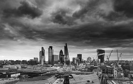 image of mile  - City of London financial district square mile skyline - JPG