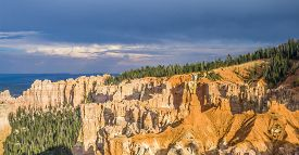 picture of hoodoo  - Bryce canyon with spectacular hoodoos in sunrise - JPG
