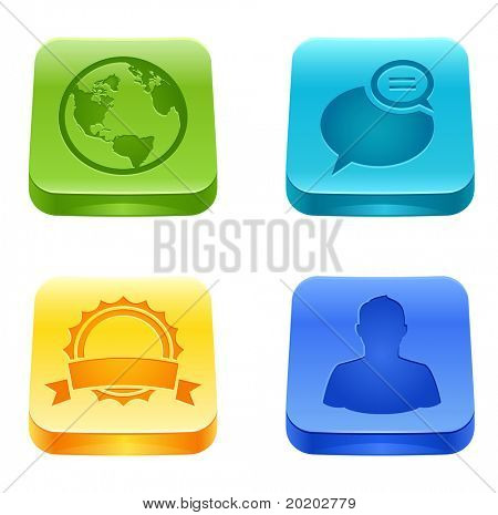 social media network and web buttons