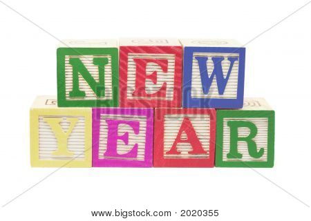 Alphabet Blocks - New Year