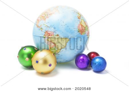Christmas Ornaments And Globe