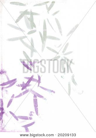 abstract illustration featuring floral elements against white background