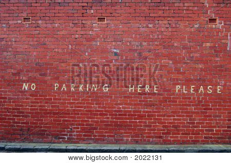 No Parking Here Please