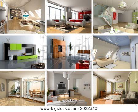 Moderne Innenräume set